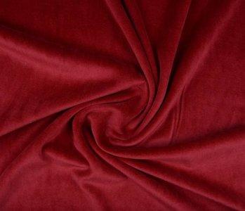 Nicky Velours Donker rood