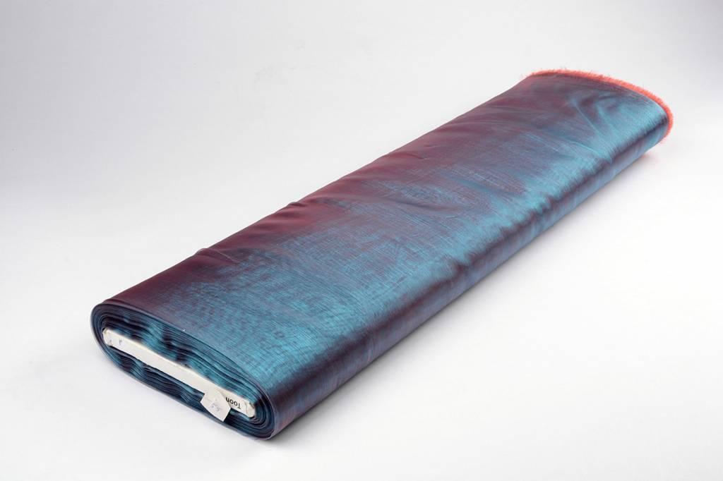 Organza Stoff Two-Tone Blau-Rot