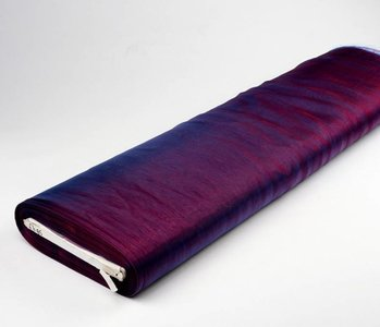 Organza Stoff Two-Tone Rot-Blau