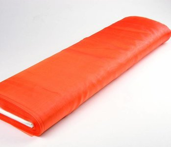 Organza Stoff Two-Tone Orange-Gelb