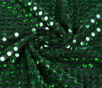 Pailletten op Lurex Groen