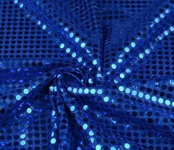 Sequins on Lurex Kobalt blue
