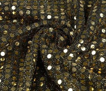 Pailletten, Flitter auf Lurex Schwarz-gold