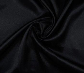 Poly Satijn Zwart