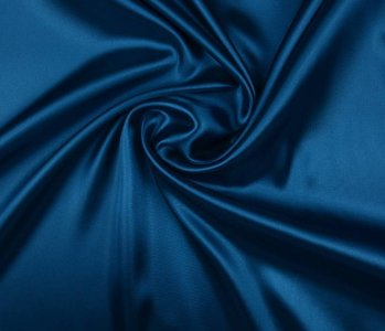 Poly Satin Empire Blau