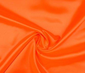 Poly Satijn Fluor oranje