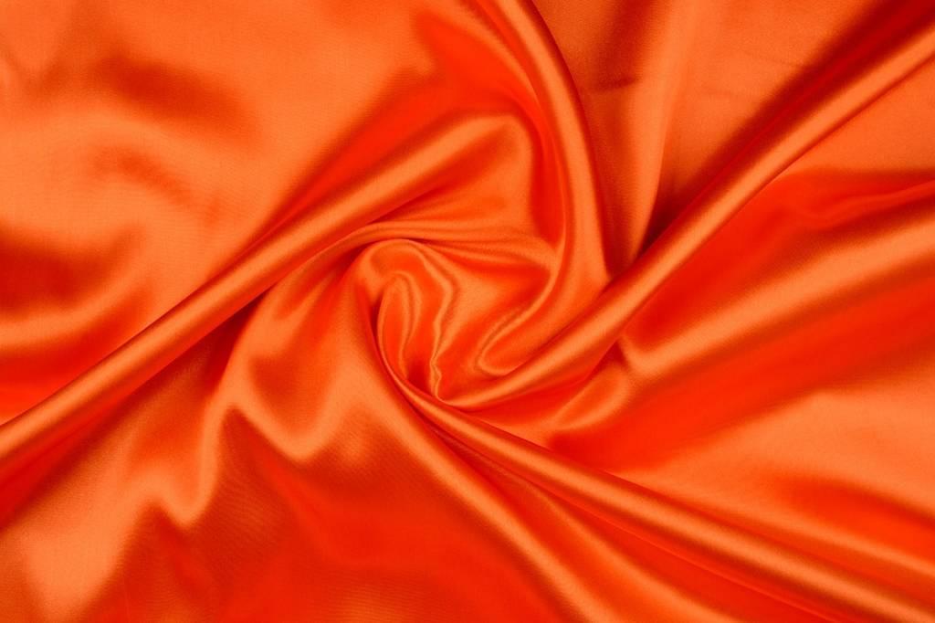 Poly Satijn Warm Oranje