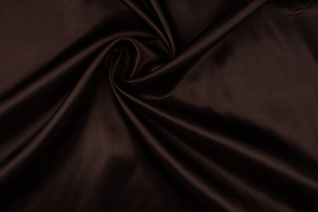 Poly Satijn Donker bruin