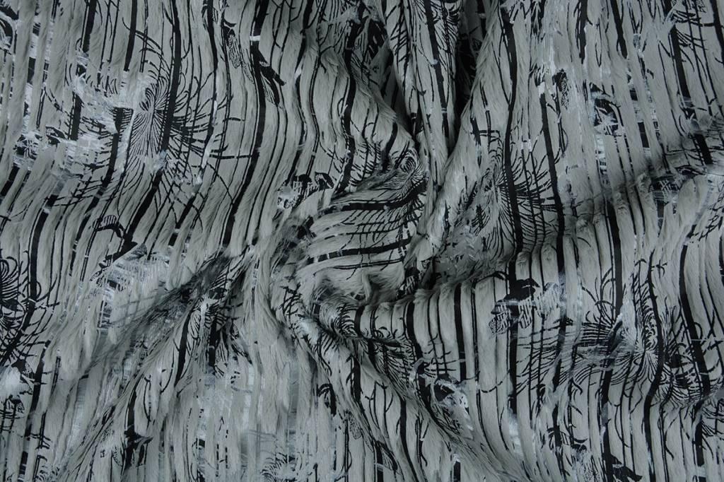 Stripe Fur Foil Grijs