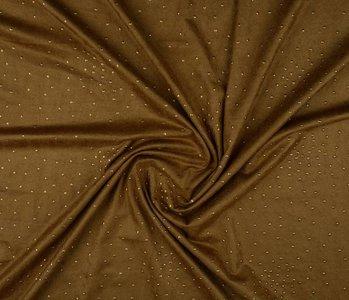 Suede gold drop Mokka brown
