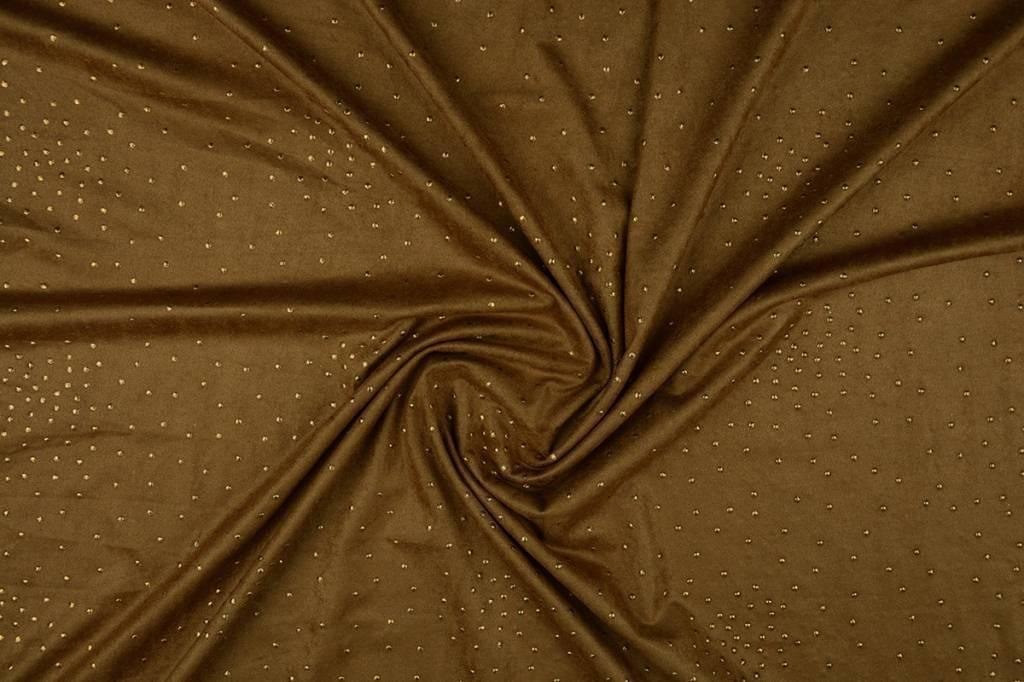 Suede gold drop Mokka bruin