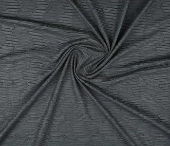 Suede plissé Dunkelgrau
