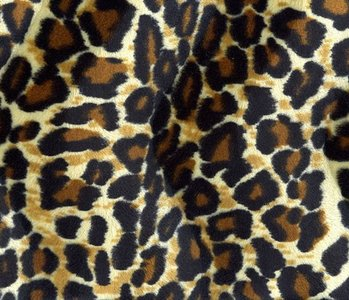 Velboa Panther-print Dunkel medium
