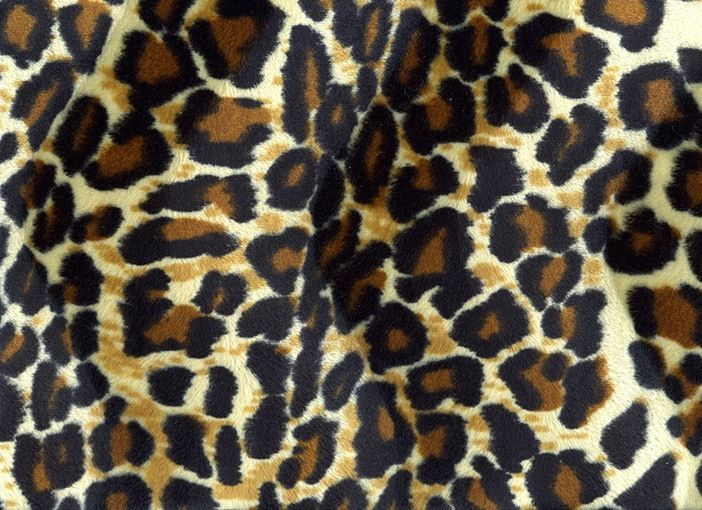 Velboa panterprint Donker medium