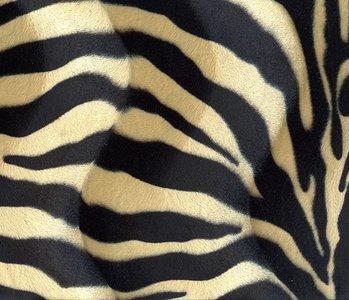 Velboa Zebra Schwarz-zand