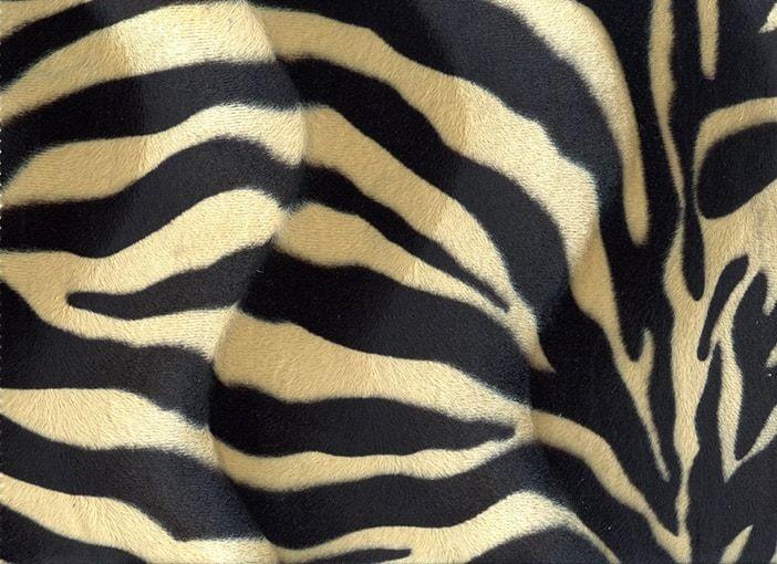 Velboa Zebra zwart-zand
