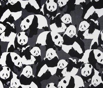 SweatStoff Alpenfleece Panda's Grau