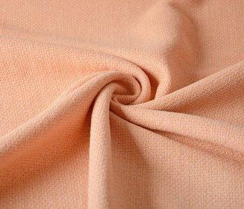 Wollen stof Peach Lurex