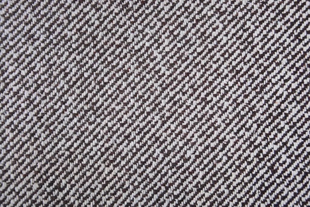 Wollen stof Bruin Creme