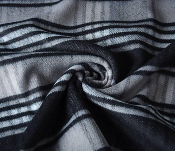 WollStoff Geüberprüft Stoff Schwarz-Grau