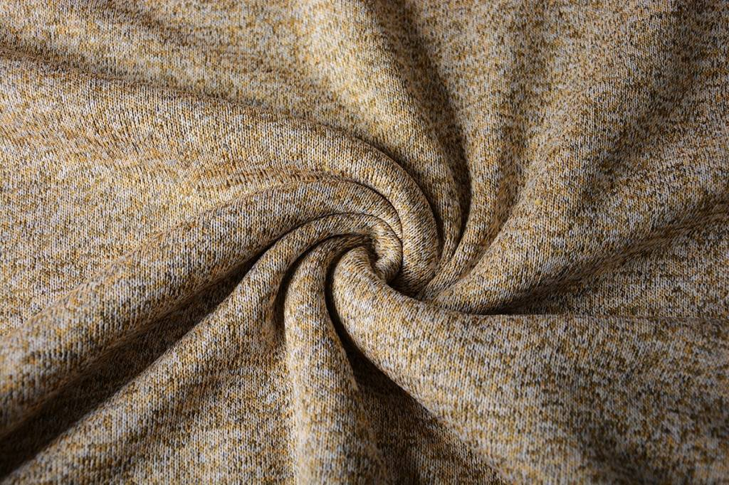 Knitted Jogging, Fur Melange Taupe Ocher