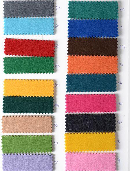 Oeko-Tex®  Stalenkaart Koreaans Vilt 3mm