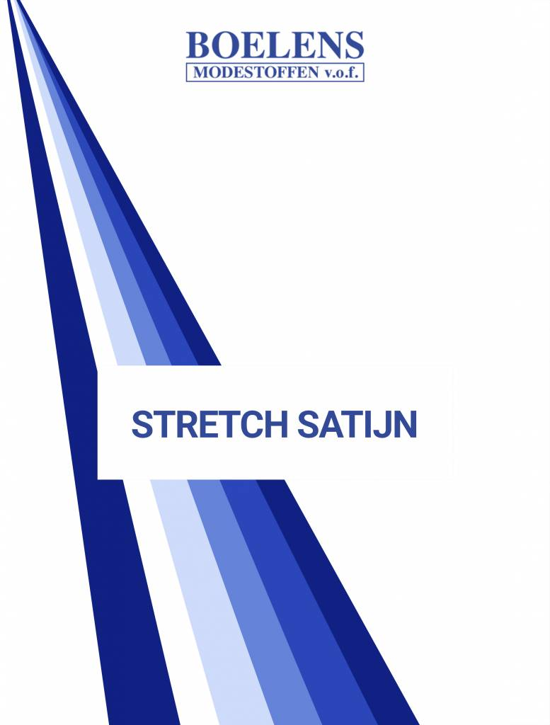 Stalenkaart Stretch Satijn