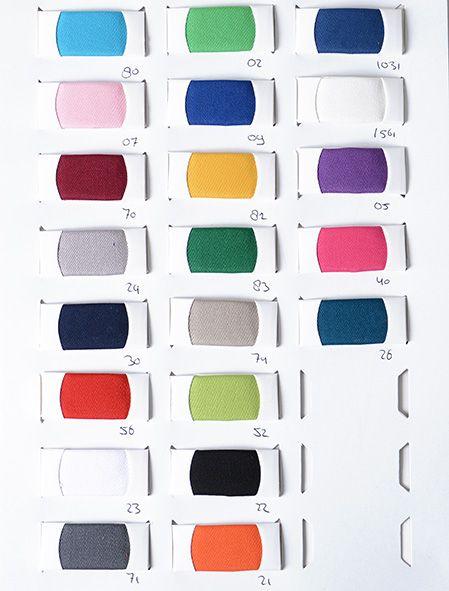 Farbekarte Work wear (katoen polyester)