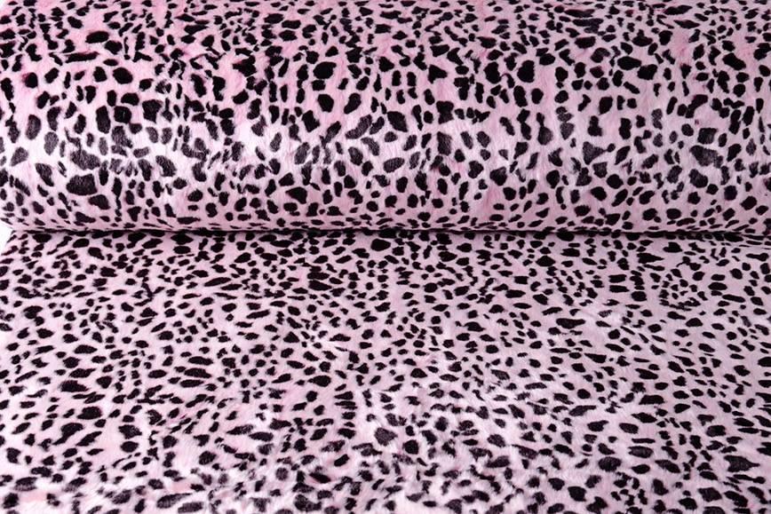 Behaarte Nachahmung Pelz Gepard Rosa