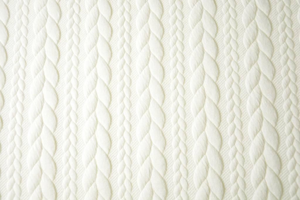 Gebreide kabel stof tricot Creme