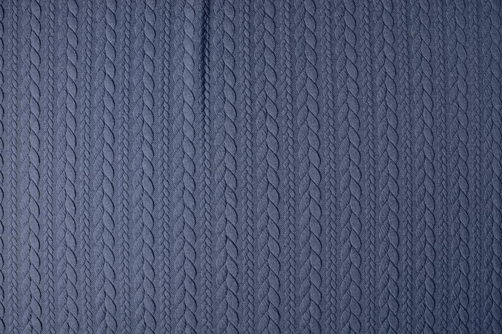 Gebreide kabel stof tricot Jeans