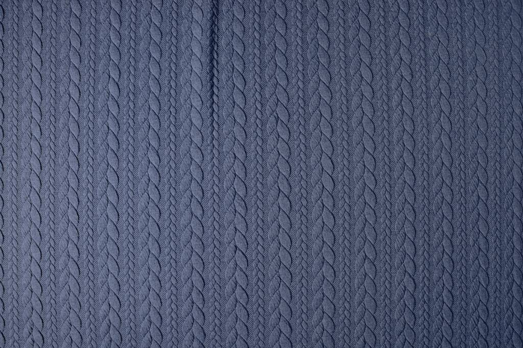 Gestrickte  Kabel Stoff tricot Jeans