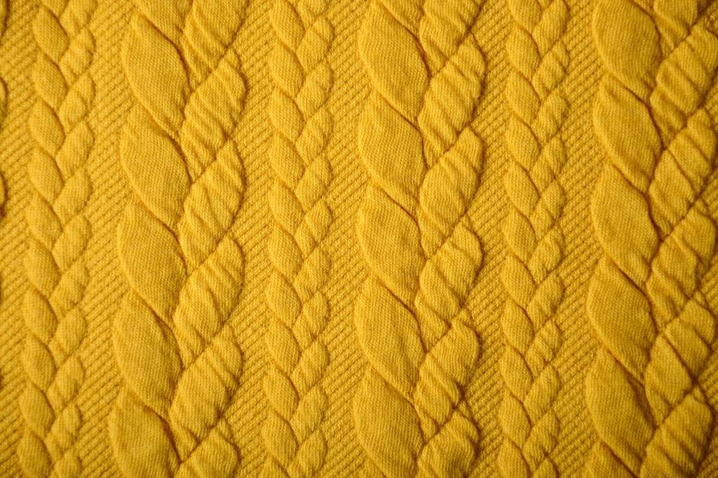 Knitted Cable fabric tricot Oker