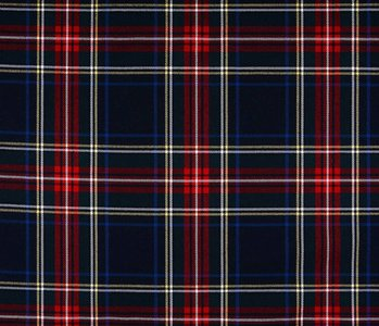 Schotse ruit stretch 3 Zwart