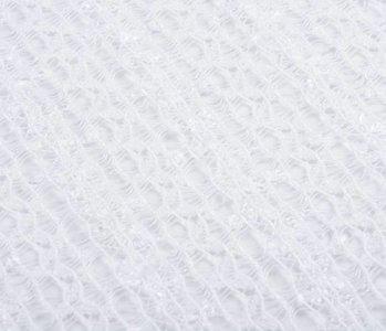 SpitzenStoff Sequ Weiß