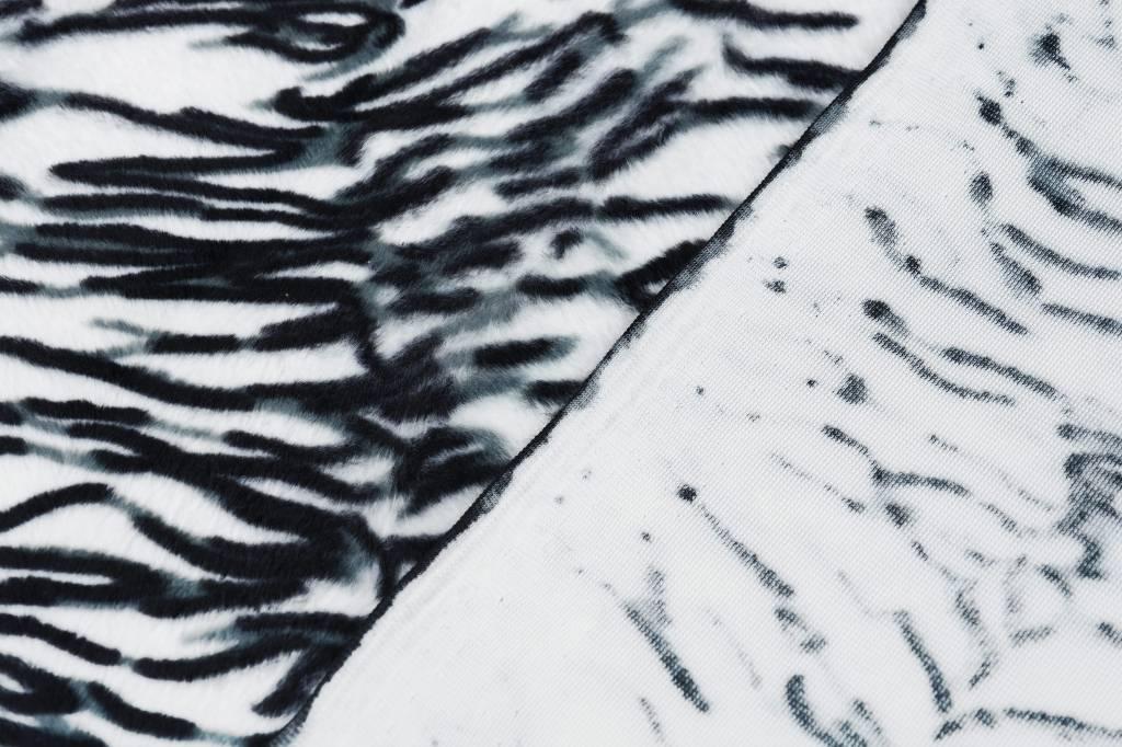 Velboa Weißer Tigerdruck