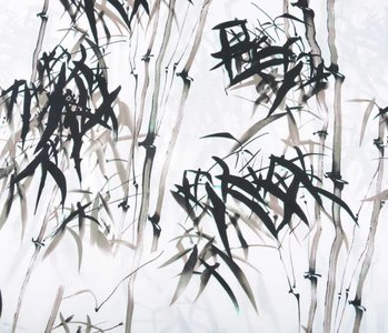Linnenlook Bedrukt Bamboo Taupe