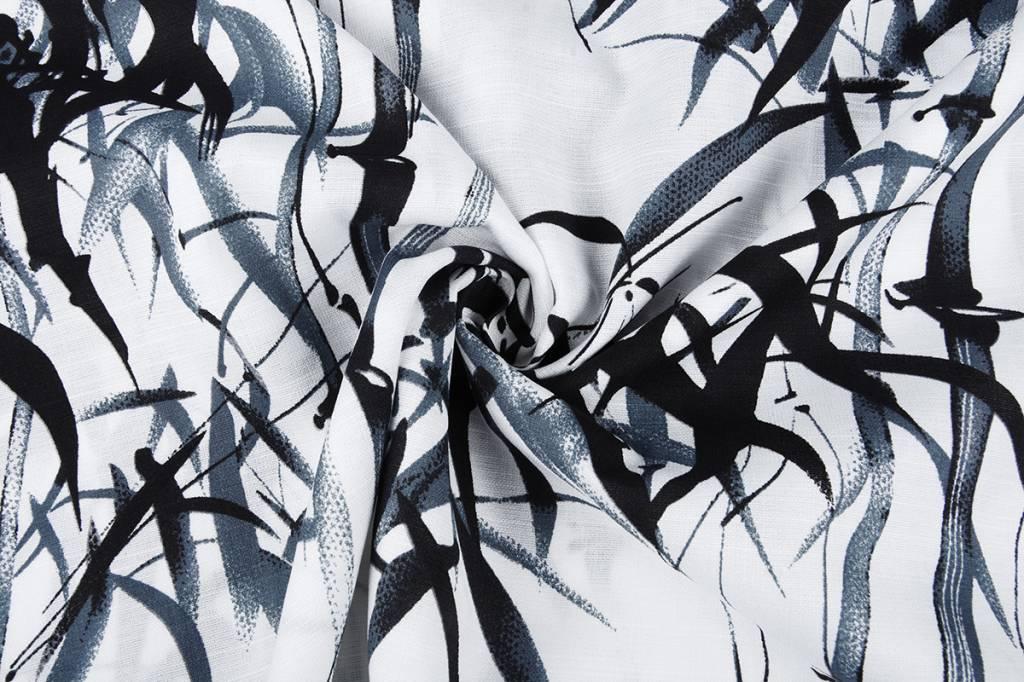 Gemustert Leinenlook Bambus