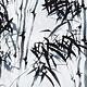 Linnenlook Bedrukt Bamboo plant