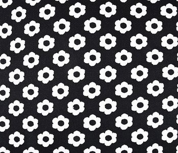 Jacquard knitted Flowers Black White