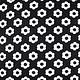 Jacquard knitted Flowers Black White