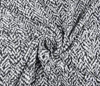 Jacquard gebreid Melardi Zwart Wit