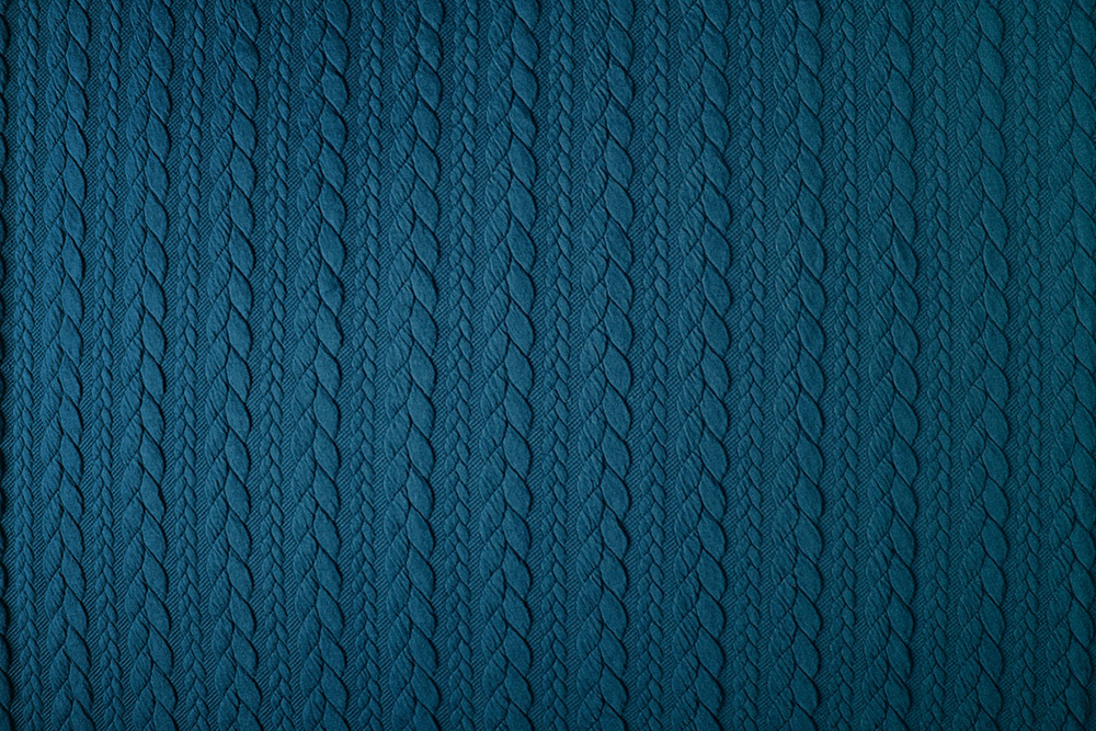 Knitted Cable fabric tricot Petrol