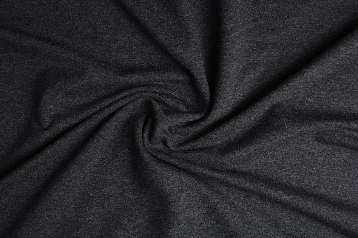 Oeko-Tex®  French Terry Donker grijs melange