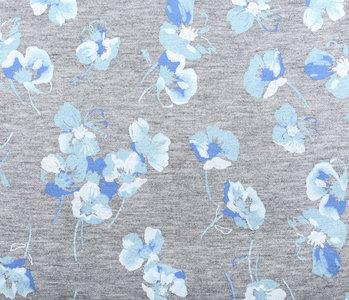 Viscose Jersey violets Grey Melange