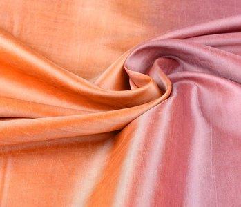 Crinkle TaftStoff Mix Orange-Rosa