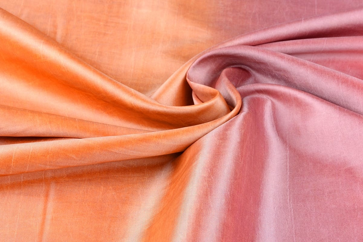 Crinkle TaftStoff Mix Orange-Rosa