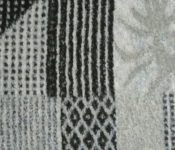 Knitted Woolen fabric Quilt look Black Grey