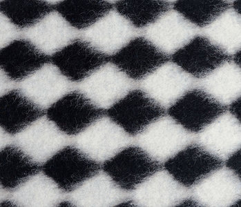 Knitted Woolen fabric Tartan Black White