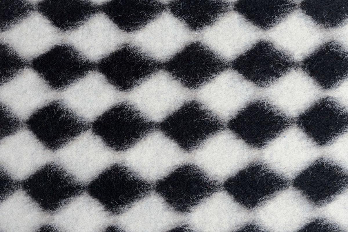 Gebreide Wollen stof Ruit Zwart Wit